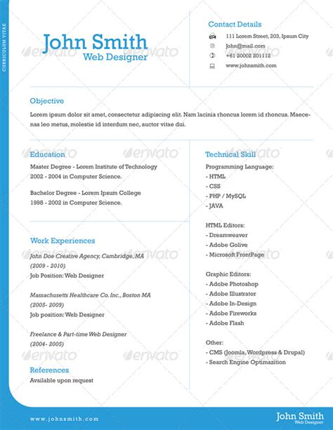 Resume One Page by 20 Best Creative Resume Templates Exles