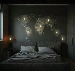 World Map In Bedroom by 27 Stylish Bedrooms With Black Walls Digsdigs