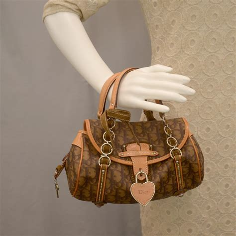 Christian Trotter Romantique Flap Bag by Christian Monogram Romantique Trotter Flap Bag Brown
