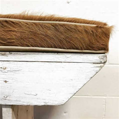 farmhouse bench cushion vintage farmhouse bench with palomino cowhide cushion at