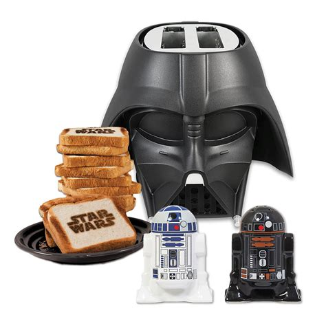 Wars Kitchen Items Uk by Darth Vader Toaster R2d2 C 3po Salt Pepper Shaker