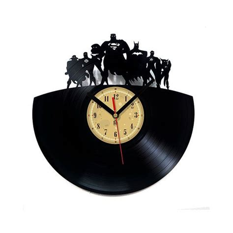 The Batman Clock Gives You Cool Credentials by Vinyl Record Clock Justice League House Stuff
