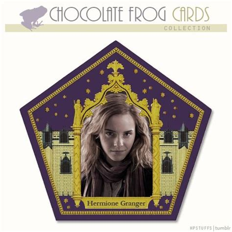 harry potter chocolate frog card template hermione granger chocolate frog cards i m pretty sure i