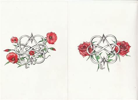 poppy and rose tattoo poppy images designs