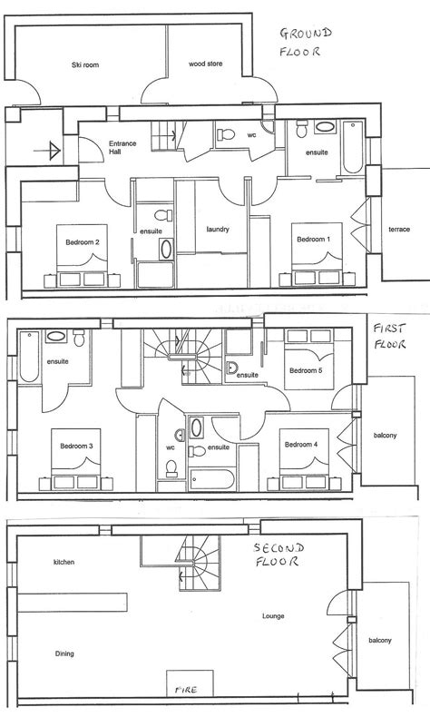 ski lodge floor plans ski house plans