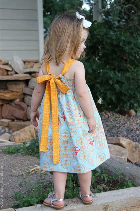 shirred summer dress  tie  bow baby summer
