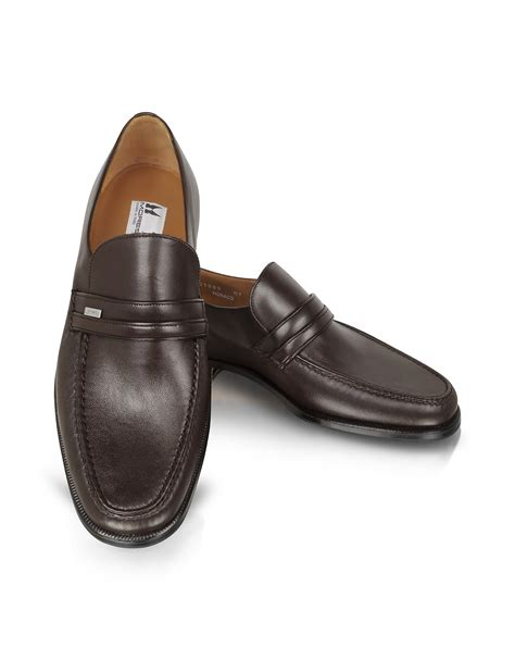 moreschi loafers moreschi monaco brown leather loafers in brown for