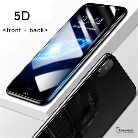 Tempered Glass Oppo F5 3d Cover Black Premium Glass Pro iphone x 5d curved edge tempered glass front back protector casewale