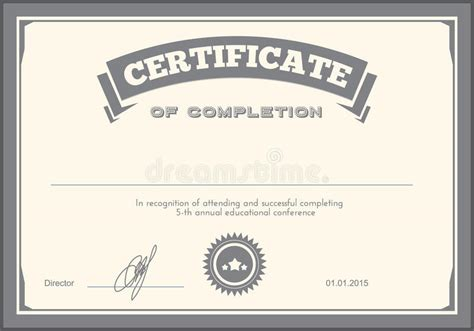 graphic design certificate denver certificate design template stock vector illustration of