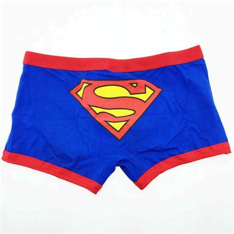 boxer clothes superman cotton boxer shorts boxers brand cuecas