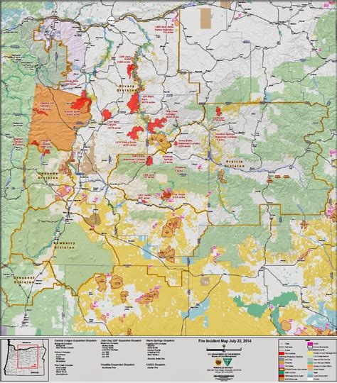 map of oregon 2015 fires central or info central oregon area map july 22