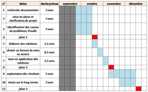 diagramme de gantt projet communication guide des bonnes pratiques de l audit interne