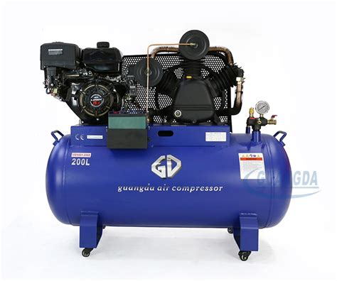 best prices 250l tank petrol industrial air compressor with gasoline engine view industrial air
