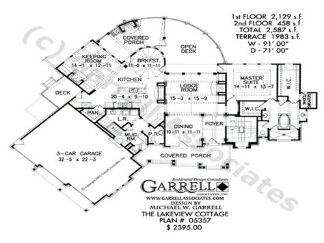 Large Cottage House Plans by Lake Cottage House Floor Plans Lake Cottage House Plans