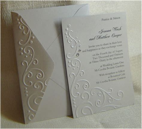 How To Make Embossed Paper - embossed wedding invitations invitations