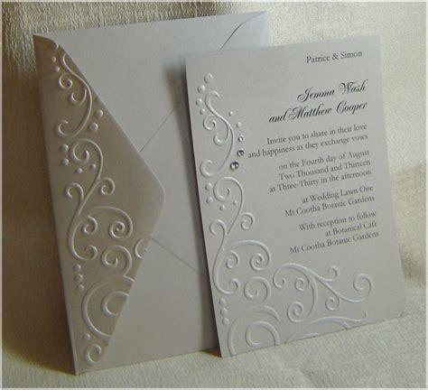 Embossed Wedding Invitations   Party: Invitations
