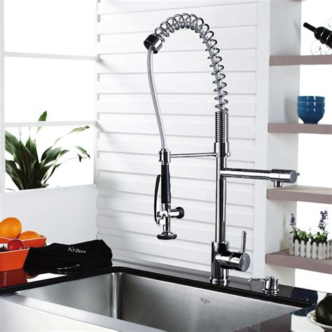kraus pull out kitchen faucet kraus single lever pull out kitchen faucet chrome kpf 1602