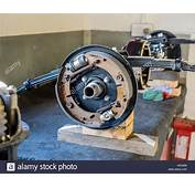MGB Rear Axle Showing Brake Assembly Stock Photo