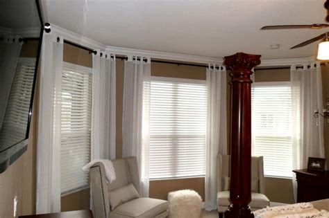 drapery rods for bay windows bay window curtain rods jcpenney bay window curtain rods