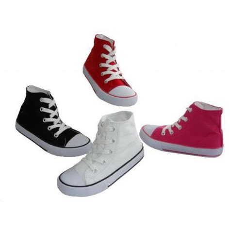 wholesale footwear toddler high top canvas shoe at