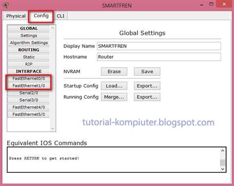 tutorial belajar subnetting simulasi static routing menggunakan packet tracer by