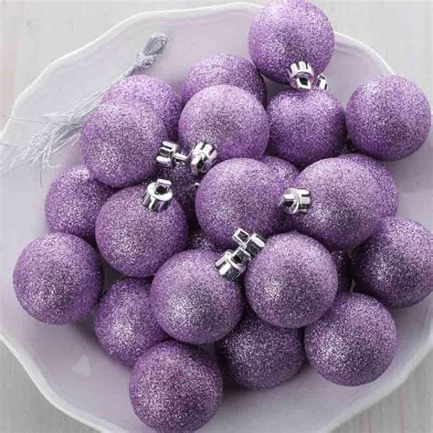sparkling lavender christmas ball ornaments what s new