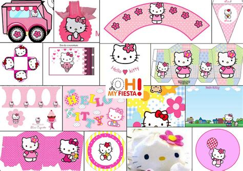 Hello Kitty Free Printable Kit in Pink.   Is it for