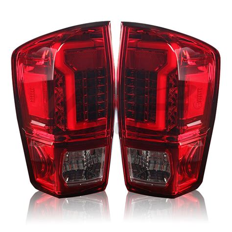 2017 tacoma aftermarket tail lights 2016 2017 toyota tacoma led tail light red clear