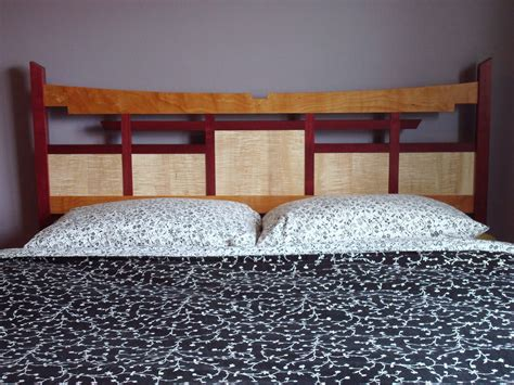 heart bedroom furniture purple heart cherry and curly maple furniture rugged cross fine art woodworking