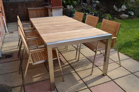 8 Seater Teak Stainless Steel Garden Set Nirvana Teak And Stainless Steel Outdoor Furniture