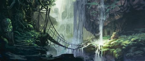 jungle painting jungle bridge by jastorama on deviantart