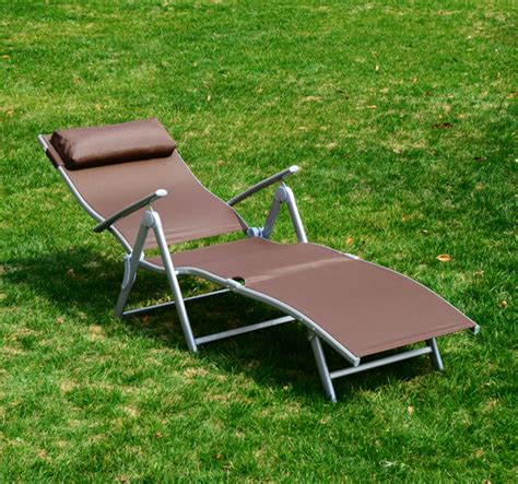 outdoor lounge chair adjustable reclining patio yard