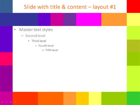 templates for powerpoint colorful colorful pixel template for powerpoint