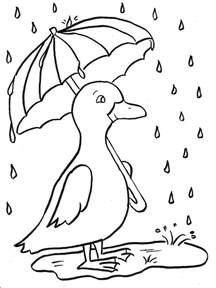rainy day coloring pages rainy day duckling coloring page bell