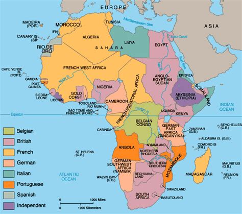 Scramble For Africa Outline Map by Jspivey Topic 3 Africa Block B