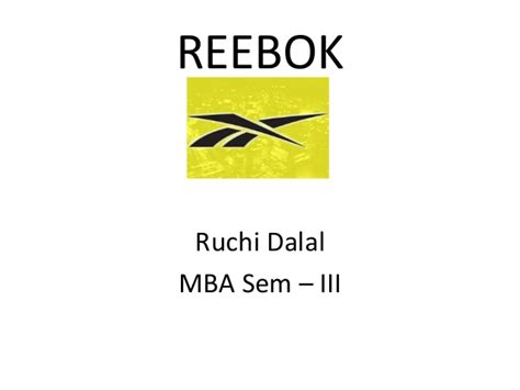 Business Mba Subject by Reebok Presentation For In Context To International