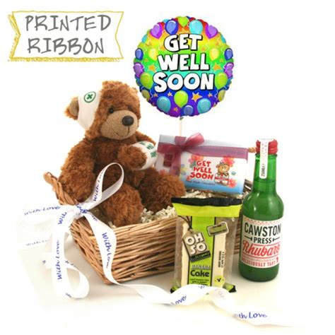 get well soon with love gift basket