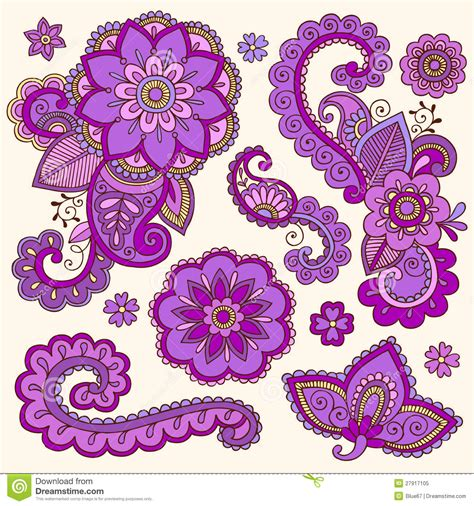 colorful flower tattoos designs royalty free images no henna colorful mehndi tattoo doodles vector stock vector