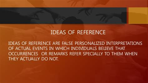 ideas of reference thought its disorders dr subrata naskar