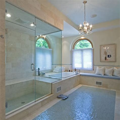 great ideas  glass tile  bath