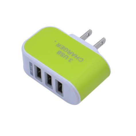 Charger Led Travel Usb 3 port usb wall home travel ac led power charger adapter 3 1a for iphone eu us5v ebay