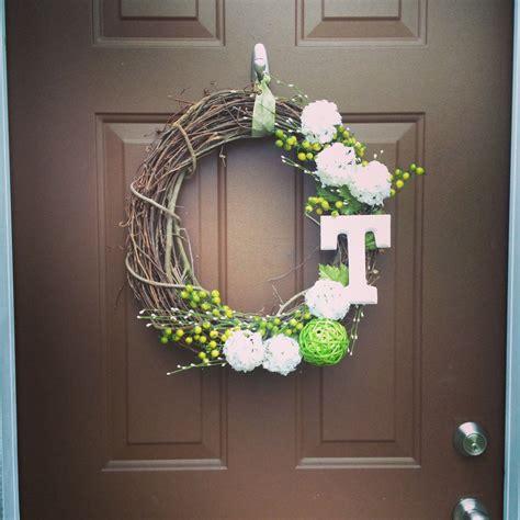 diy monogram front door wreath wreaths pinterest