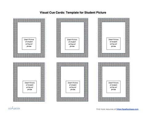 webisode cue cards templates visual cue cards udl strategies