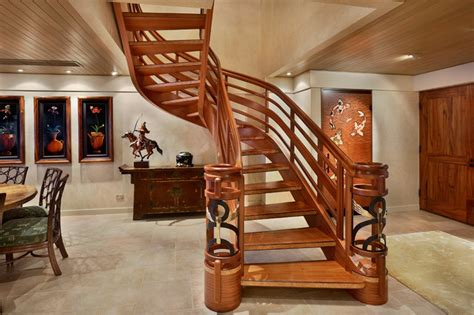 Custom Staircase Design Custom Stair Tropical Staircase Other Metro By Architectural Design Construction