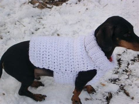 pattern for dachshund dog coat chunky crochet dog sweater pdf pattern only fits