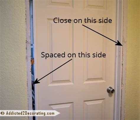 Installing Door Frame Interior How To Install A Prehung Door Tips From A Novice