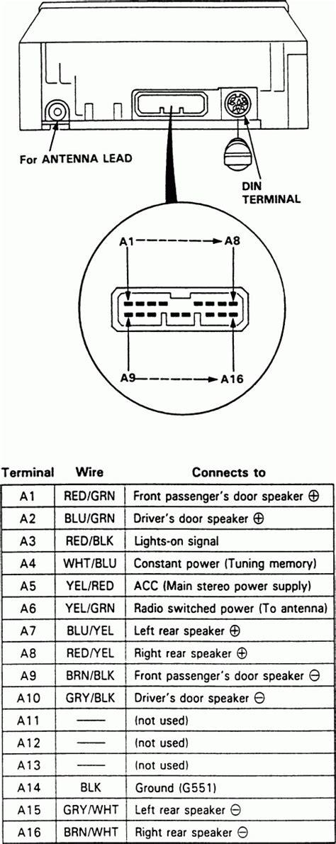 integra radio wiring diagram