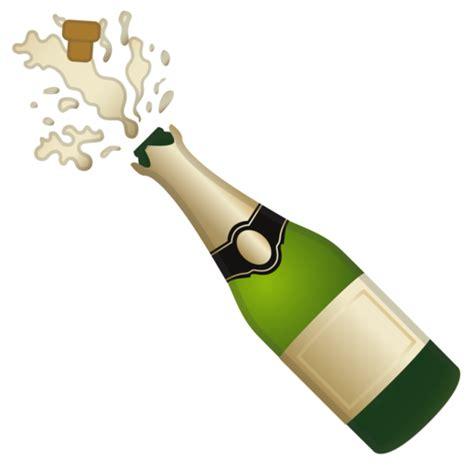 wine bottle emoji flasche mit knallendem korken emoji