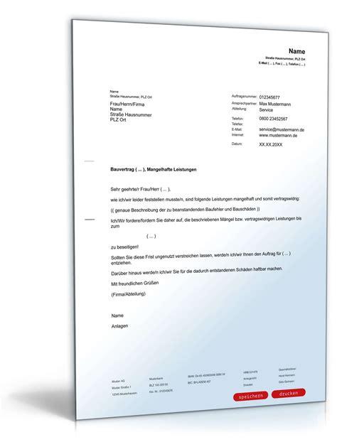 Musterbrief Beschwerde Antwort beschwerde an architekt baum 228 ngel muster zum