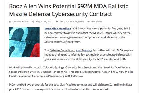 Booz Allen Tuition Reimbursement Mba by Nuclear Ballistic Missile Ability Hits Fema